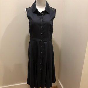 Pink Tartan navy cotton sleeveless dress